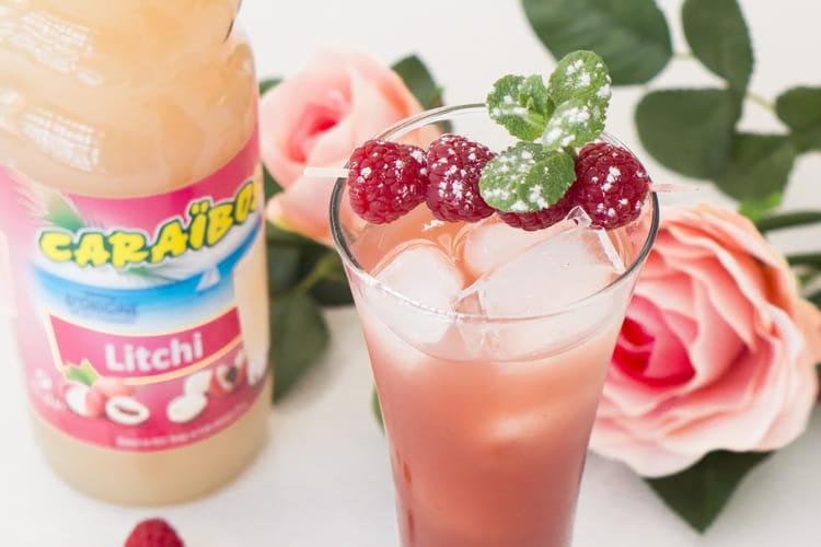 Cocktail à la framboise et au litchi (Raspberry flower)