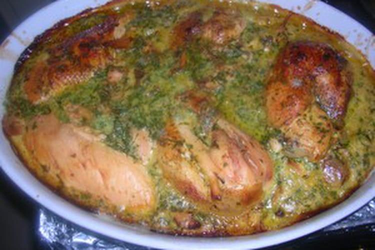 Tajine de poulet mkaddam souiri