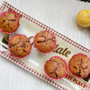 muffins chocolat poires