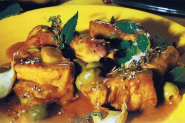 Veau aux olives, oignon et cannelle