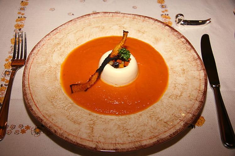 Bavarois de Munster et crème de carotte au cumin