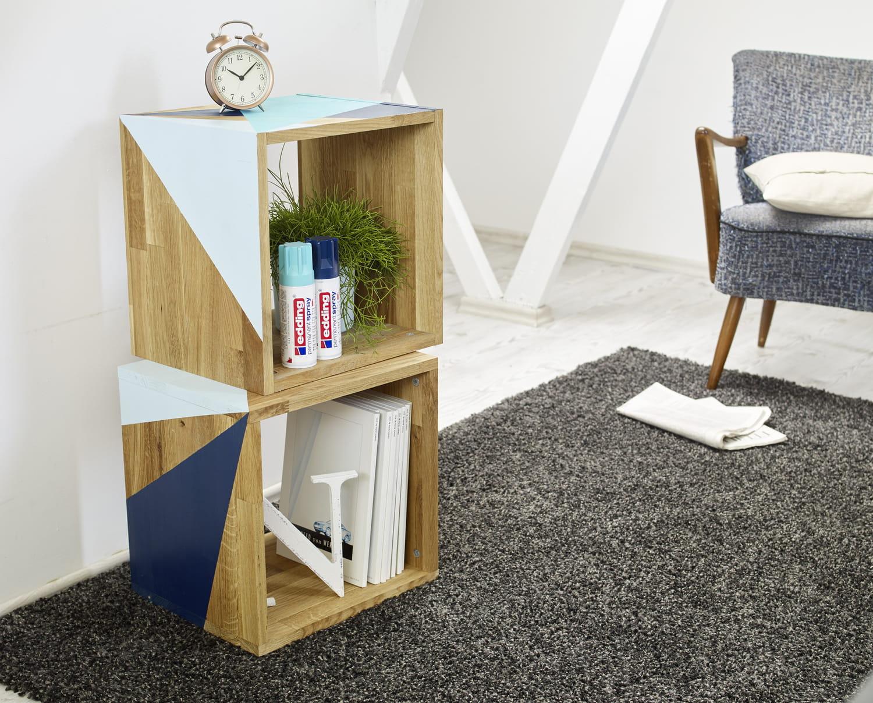 Un meuble de rangement relooké et graphique en DIY