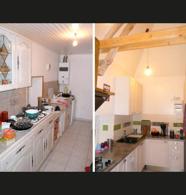 Avant-après: une cuisine devenue plus pratique et lumineuse