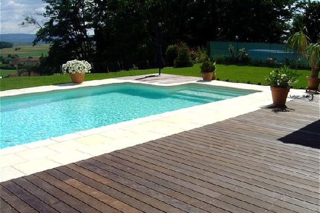 Une piscine paradisiaque