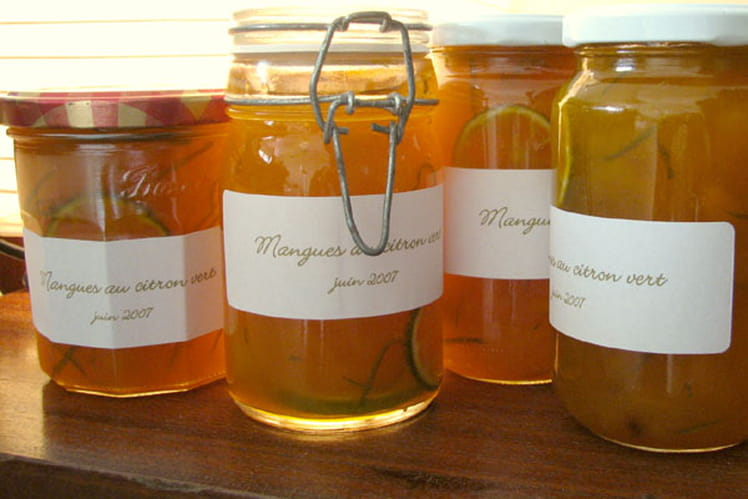 Marmelade de mangues au citron vert