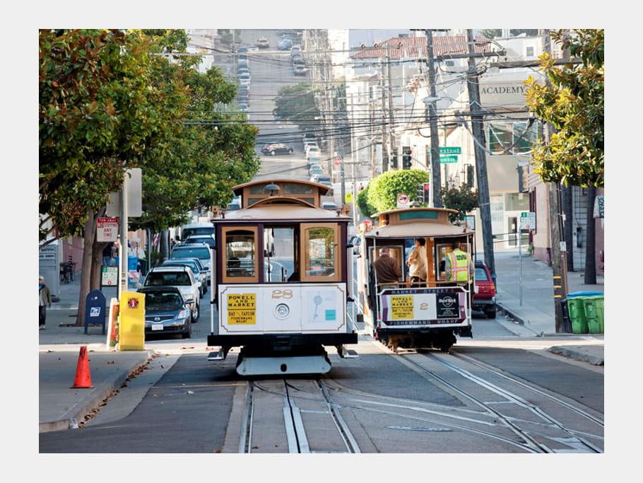 Les typiques Cabble Cars de San Francisco