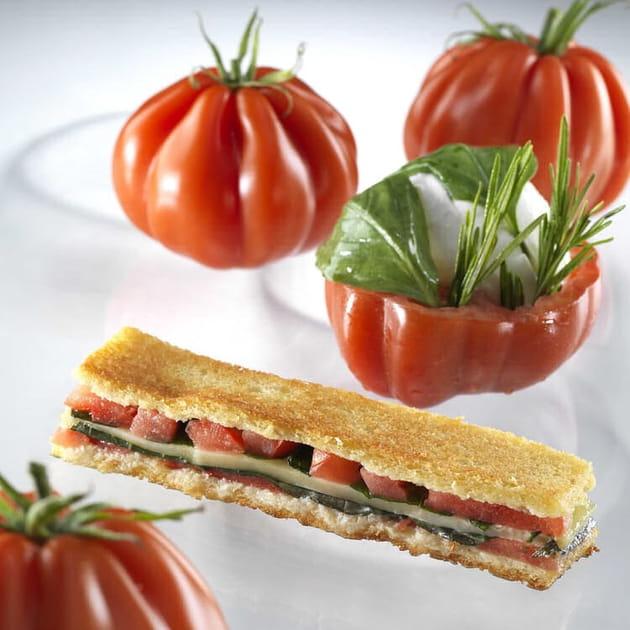 Croque tomate Coeur de Boeuf