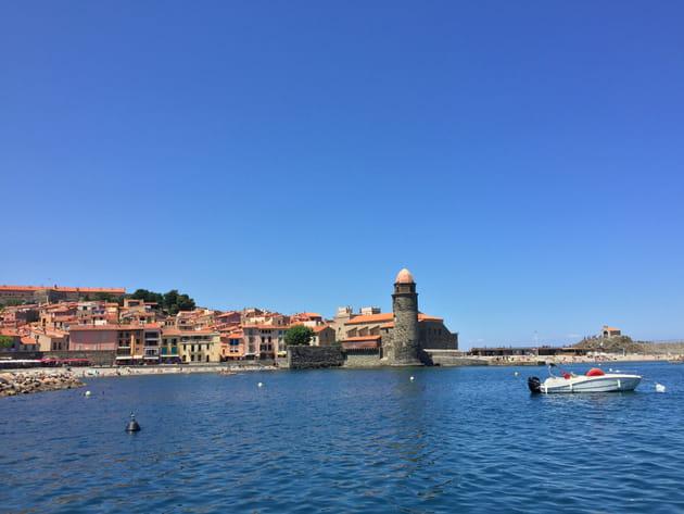 Entrée dans Collioure