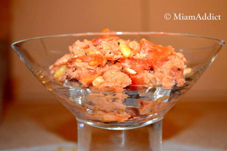 Verrines de saumon mariné à l'aneth