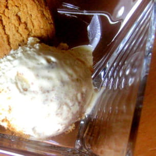 glace au chocolat blanc et speculoos