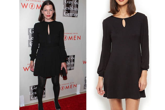 Milla Jovovich : une robe de soirée noire