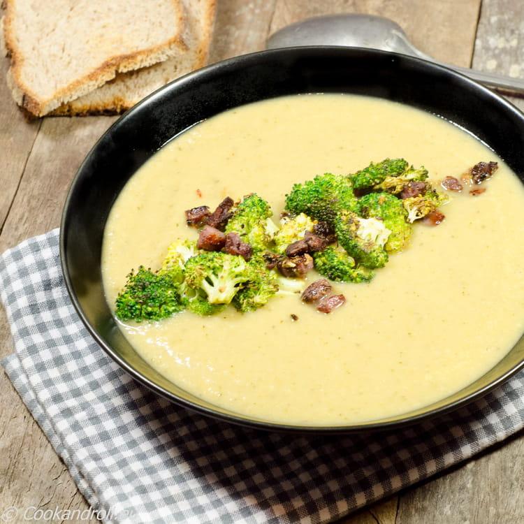 Recette de soupe au chou brocoli br l la recette facile - Soupe de brocolis thermomix ...