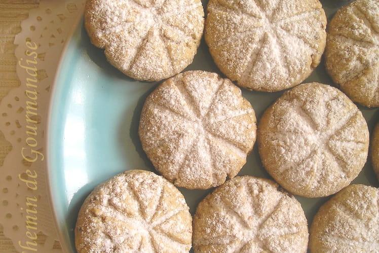 Biscuits ronds d'étoiles