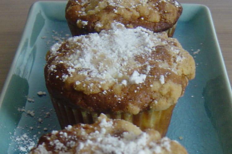 Muffins au crumble de pommes