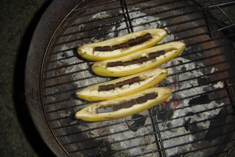 Bananes au barbecue
