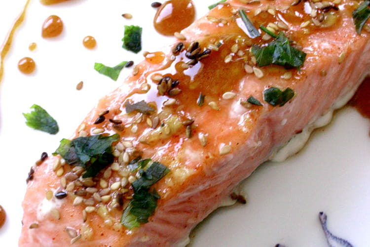 Pavés de saumon caramélisés