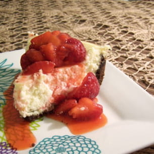 cheesecake de ricotta aux fraises