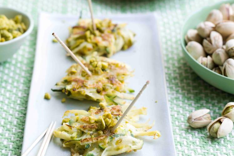 Galettes de courgettes à la pistache