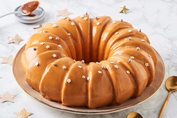 Bûche de Noël au caramel beurre salé de Guérande