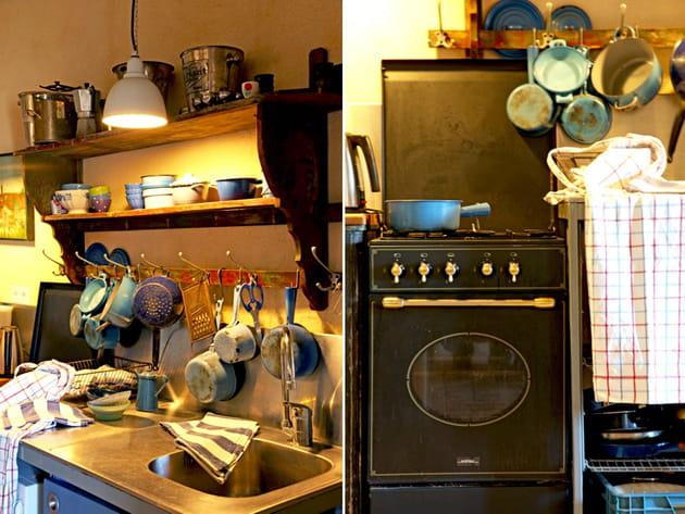 Une cuisine campagne de style brocante