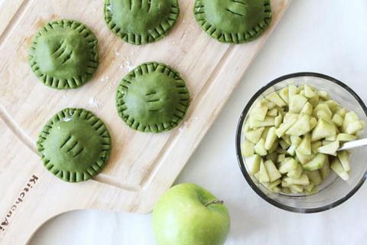 Tartelettes aux pommes et au thé matcha
