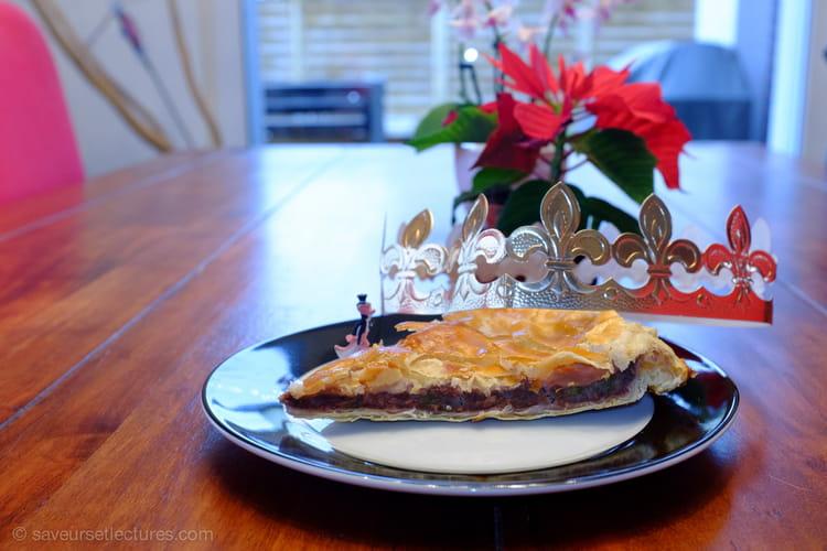 Galette des Rois thé matcha et framboise, pâte feuilletée maison légère
