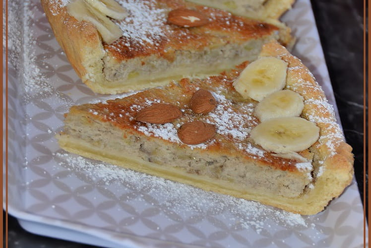 Tarte banane & amande