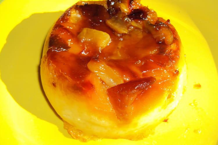 Flans miniatures aux pommes caramélisées