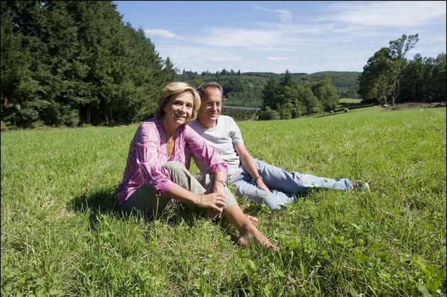 Valérie et son mari Jérôme Pécresse, au vert en Corrèze (2009)