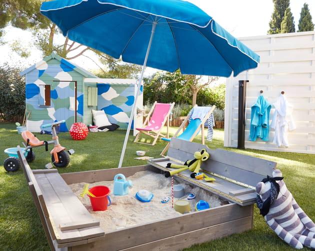 bac sable avec banc soulet de castorama. Black Bedroom Furniture Sets. Home Design Ideas