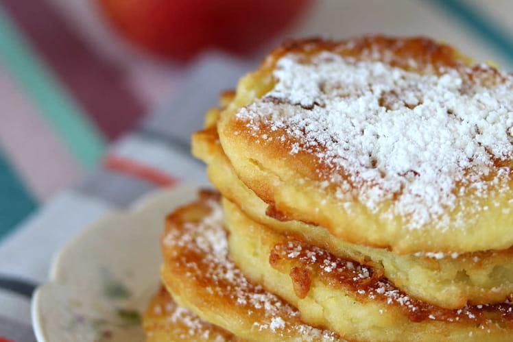 Beignets aux pommes en galettes