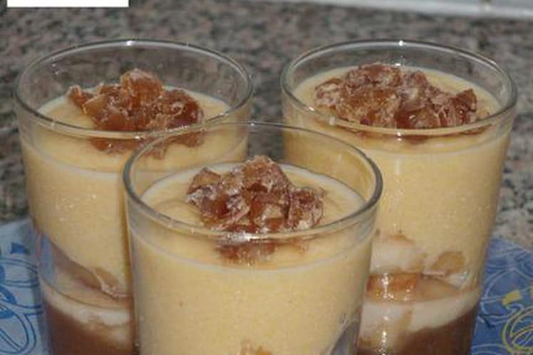 Polenta crémeuse aux poires et marrons glacés