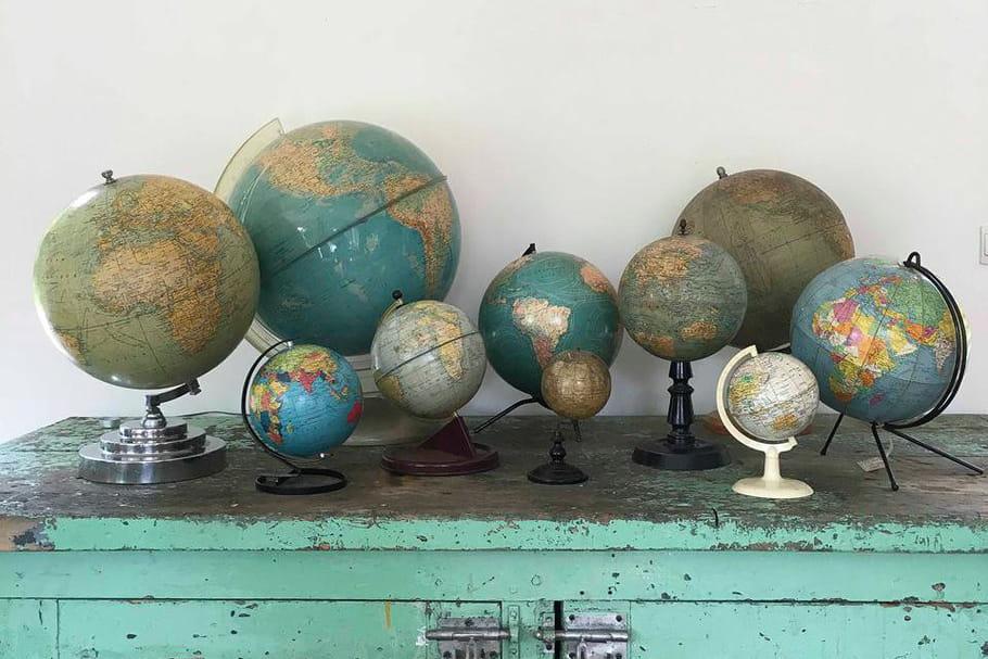 Le truc à chiner: le globe terrestre
