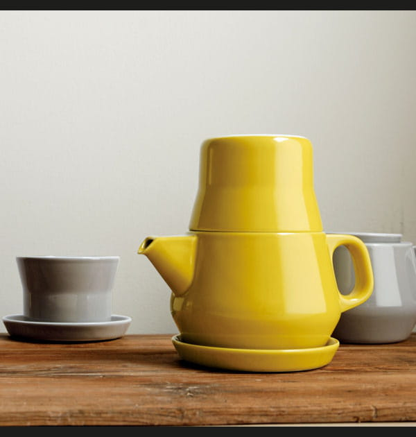Service à thé individuel Couleur de Kinto