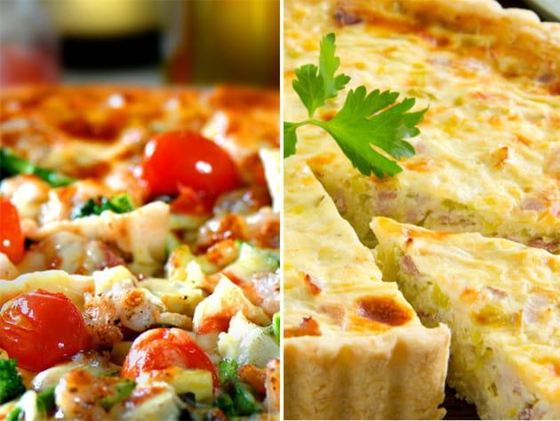 Pizza jambon fromage ou quiche lorraine ?
