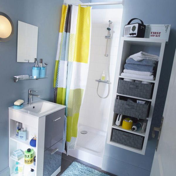 Le bon mobilier pour une petite salle de bains for Petit mobilier salle de bain