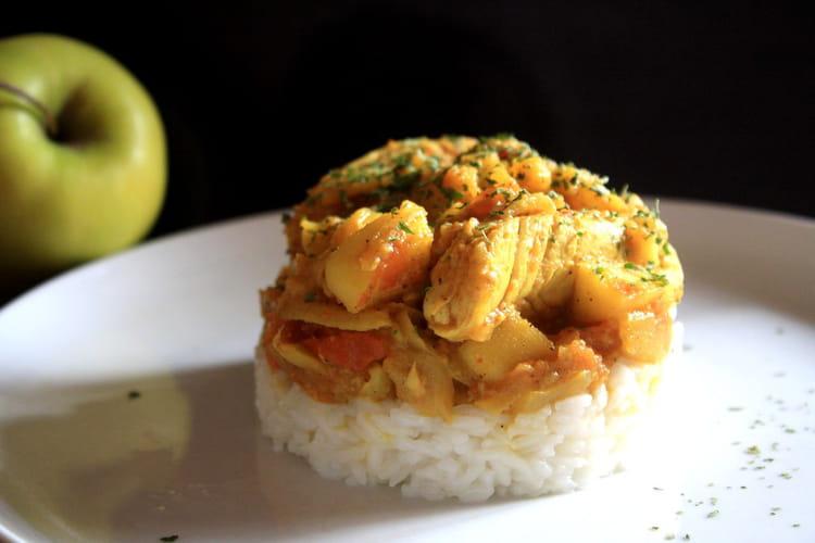 recette de riz au poulet pomme curry la recette facile. Black Bedroom Furniture Sets. Home Design Ideas