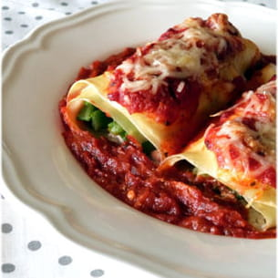 cannelloni haricots verts & ricotta