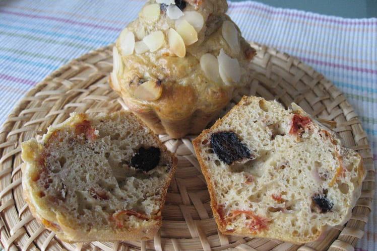 Recette de muffins aux tomates s ch es thon et olives - Cuisiner des tomates sechees ...