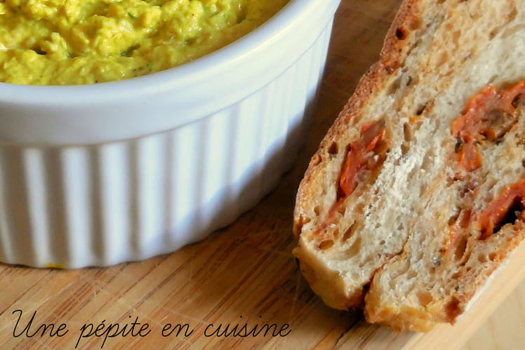 Rillettes de poulet au fromage frais et au curcuma