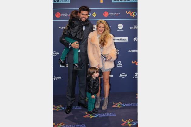 Shakira et Gerard Piqué, des parents amoureux