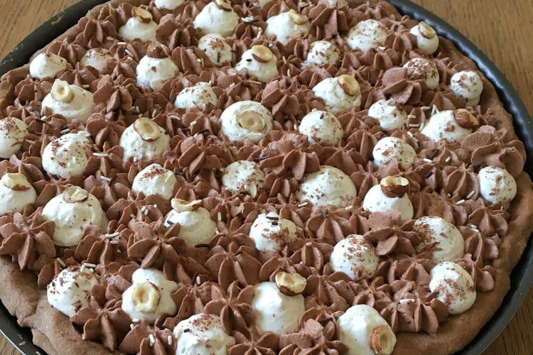 Tarte chocolat-noisette et mousse vanillée