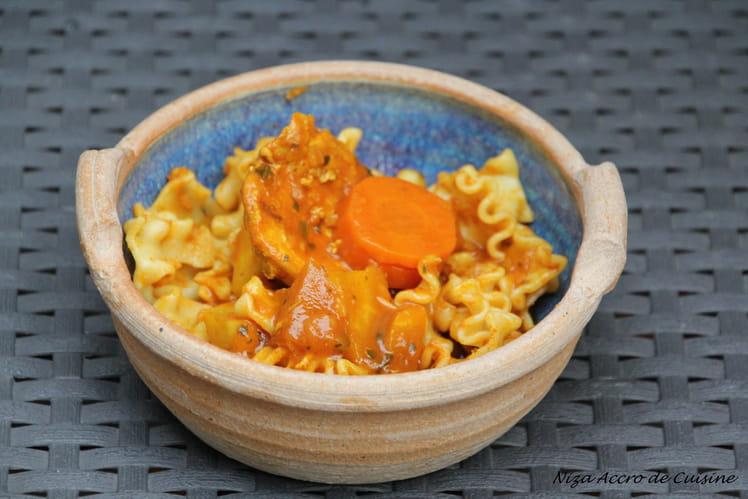 Poulet aux légumes mijotés (recette régime)