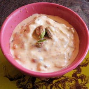 kulfi glace à la pistache et au safran