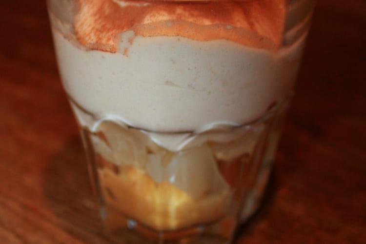 Tiramisu poire - crème de marron
