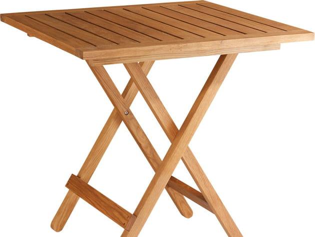 Table pliante en chêne massif Habitat