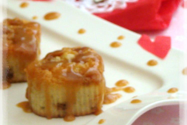 Petits gâteaux coeur au caramel