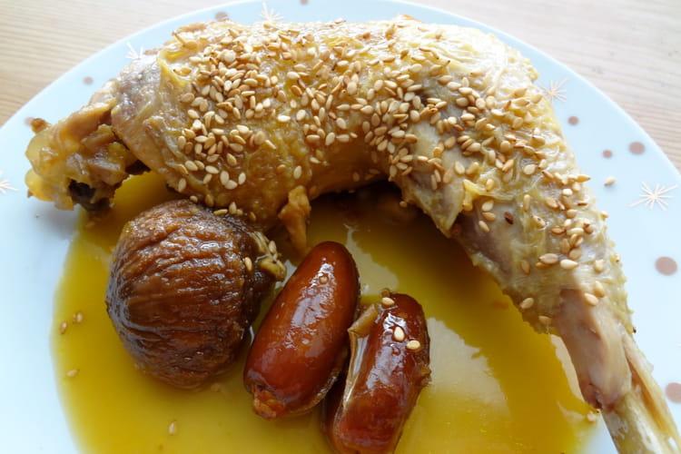Cuisses de poulet au miel et fruits moelleux