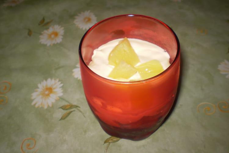 Tiramisu léger à l'ananas
