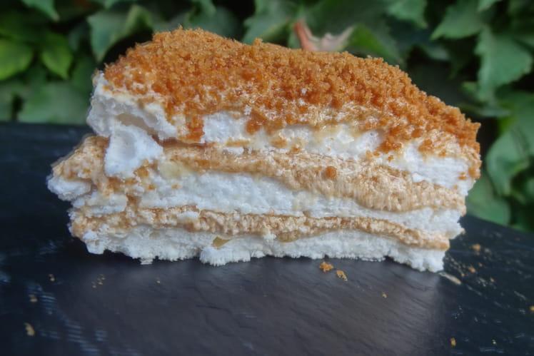 Gâteau de meringue au spéculoos